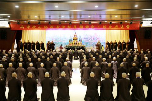 七塔禅寺传授三坛大戒法会举行初坛请戒礼、查验衣钵、忏摩仪式