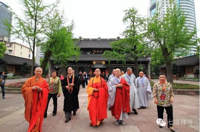 第十九次中韩日佛教友好交流会预备会议代表团莅临七塔禅寺参访