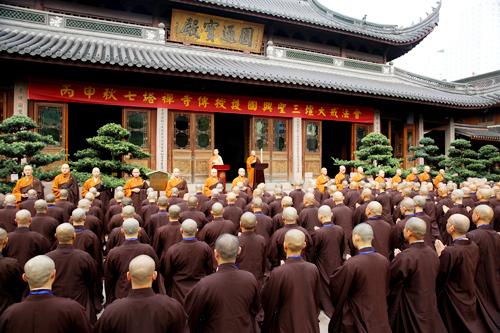 七塔禅寺传授护国兴圣三坛大戒法会举行请戒礼仪演习