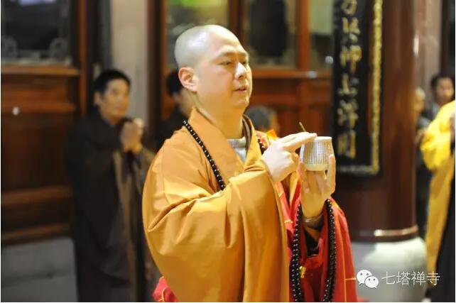 七塔禅寺为储府举行108众水陆法会洒净仪式