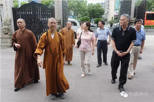 武汉市政协副秘书长丁顺清一行来七塔禅寺参访