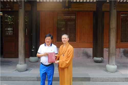著名作家熊召政教授参访七塔禅寺