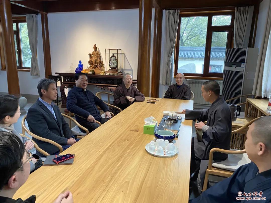 宁波市政协副主席高庆丰一行走访慰问七塔禅寺