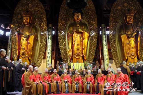 七塔禅寺传授三坛大戒法会举行二坛请戒及正授比丘戒登坛仪式